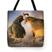 Dance Of The Quail Tote Bag
