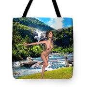 Dance To The Waterfall Tote Bag