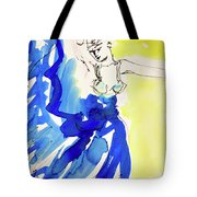 Dancer In Blue Tote Bag