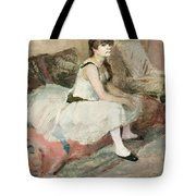 Dancer Seated On A Pink Divan 1884 Tote Bag