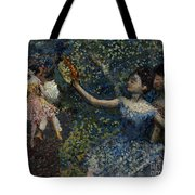 Dancer With A Tambourine Tote Bag