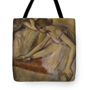 Dancers In Repose Tote Bag by Edgar Degas