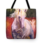 Dances In Fire Meadow Tote Bag