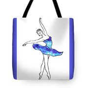 Dancing Ballerina Frosted Blue Tote Bag