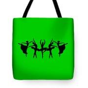Dancing Ballerinas Silhouette Tote Bag