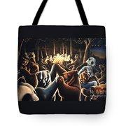 Dancing Bears Painting Tote Bag