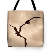 Dancing Birds Tote Bag