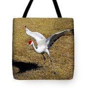 Dancing Crane Tote Bag