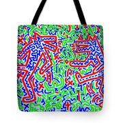 Dancing Dogs After Keith Haring 1958-90 Tote Bag