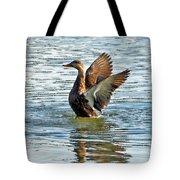 Dancing Duck Tote Bag