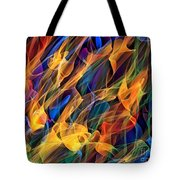 Dancing Flames Tote Bag