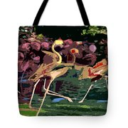 Dancing Flamingos  Tote Bag
