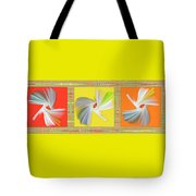 Dancing Flower Trio Tote Bag