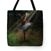 Dancing Giraffe Tote Bag