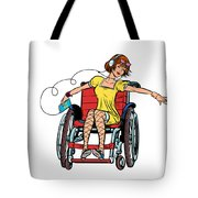 Dancing Girl In A Wheelchair Tote Bag