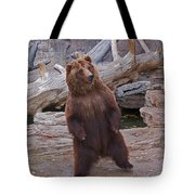 Dancing Grizzly Tote Bag