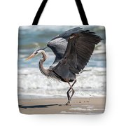 Dancing Heron Triptych Tote Bag