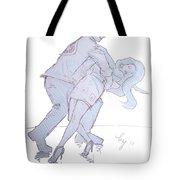 Dancing In Blue Tote Bag