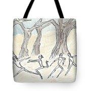 Dancing In The Mountain Tote Bag