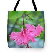 Dancing Lady Pink Hibiscus Tote Bag