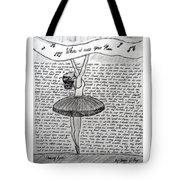 Dancing Lyrics Tote Bag