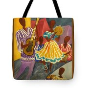 Dancing N Jammin In The Street  Abstract  Tote Bag