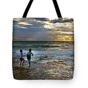 Dancing On The Beach Tote Bag