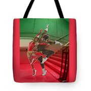 Dancing On The Stairs Tote Bag