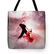 A Passionate Pair Dance In The Middle Of Nowhere, Who Embody The Strength And Subtlety Tote Bag