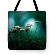 Dancing Parasol Mushrooms Tote Bag
