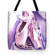 Dancing Pearls Ballet Slippers  Tote Bag