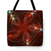 Dancing Red Flower Star In Motion Tote Bag