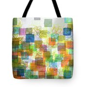 Dancing Squares Tote Bag