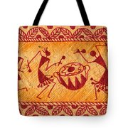 Dancing Warlis Tote Bag