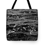 Dancing Water In Black And White Tote Bag