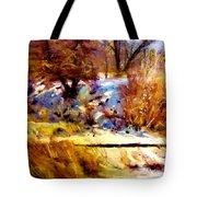 Dancing Winter Shadows Tote Bag