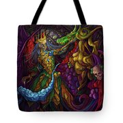 Dancing With Carousel Creatures Tote Bag