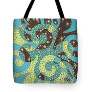 Dancing With Octopus Tote Bag