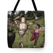 Dancing With Rollers 34 Tote Bag