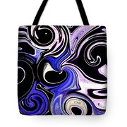 Dancing With The Swans Abstract Tote Bag