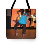 Dancing Young Girl Tote Bag