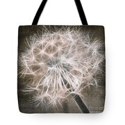 Dandelion In Brown Tote Bag by Aimelle