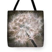 Dandelion In Brown Tote Bag