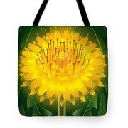 Dandelion Lion's Tooth Print Tote Bag