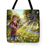 Dandelion - Make A Wish Tote Bag by Anne Wertheim