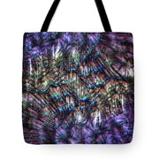 Dandelion Seeds Abstract Tote Bag