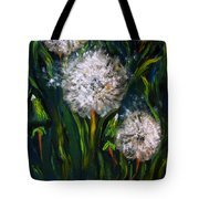 Dandelions Acrylic Painting Tote Bag