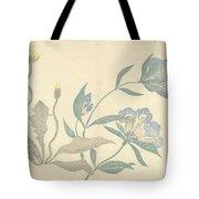 Dandelions And Blue Flowers, Nakamura Hochu, 1826 Tote Bag