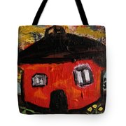 Dandelions By Red Barn By Mcw Tote Bag