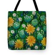 Dandelions In People's Park Tote Bag